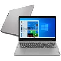 "Notebook Lenovo Ultrafino IdeaPad 3i, Intel Core i5-10210U, 8GB RAM, 256GB SSD, Windows 10, 15.6"", Prata"