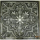 ceiling tiles victorian stile 302 antique silver decorative plastic 24x24 fire rated - Decorative Ceiling Tiles