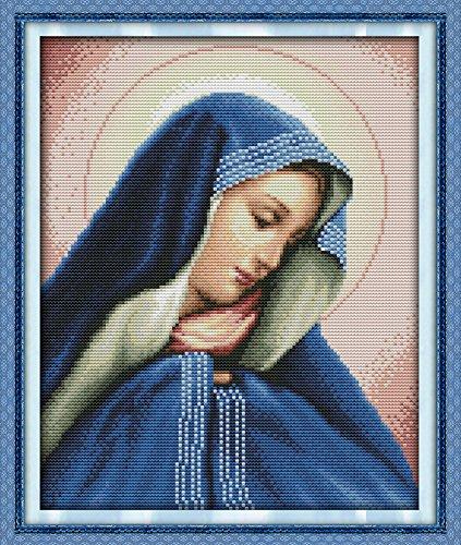 5 28/×37CM Joy Sunday Cross Stitch Kit 14CT Stamped Embroidery Kits Precise Printed Needlework Goddess