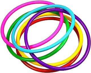 Toyvian Anelli di Lancio di plastica Anello per Bambini Gioco di tiro Giochi all'aperto Puntelli 24 Pezzi (Colore Casuale)