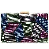 Women Clutches Crystal Evening Bags Clutch Purse Party Wedding Handbags (AB Multicoloured)