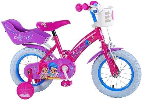 Shimmer & Shine Bicicleta Niña 12 Pulgadas Ruedas Extraíbles la ...