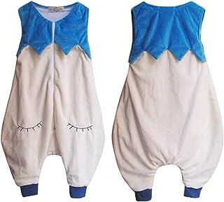1 Set Infant maniche Vest flanella Leg Sacco a pelo appena nato che dorme sacchetto del fumetto Design Animali Sacco a pelo (nero) JohnJohnsen