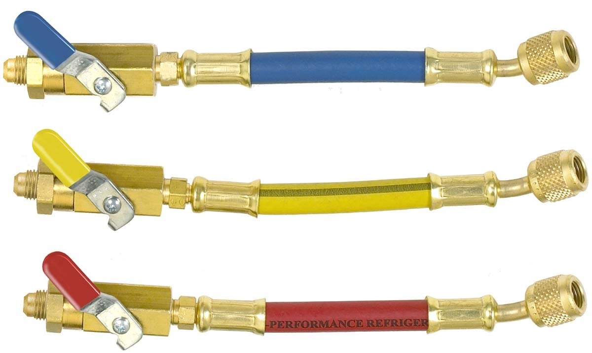 Yellow Blue Imperial Tool 800MBS Set of 3 Low Loss Ball Valve Adapters with 6 Hose Red