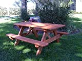 A & L FURNITURE CO. Pressure Treated Kids Table (22'' Wide) - Specify for FREE 2'' Umbrella Hole