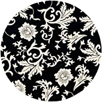 Safavieh Handmade Soho Sillo Black New Zealand Wool Rug (6 Round)