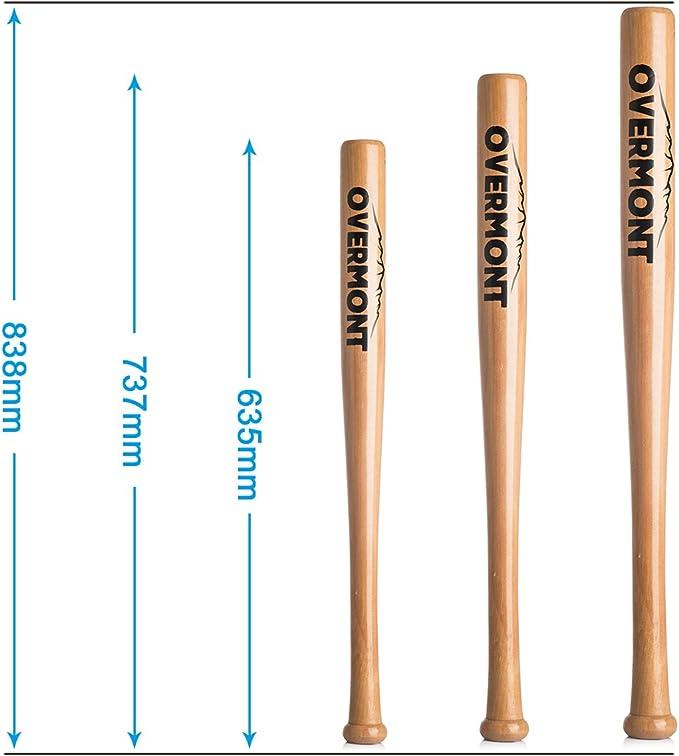 Overmont Baseballschl/äger Baseball Schl/äger Holz 25//29//33 Zoll