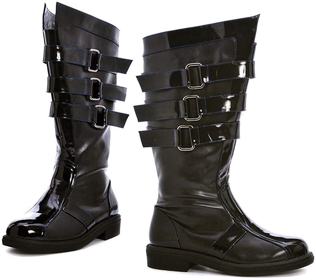 Steampunk Boots and Shoes for Men Ellie Shoes Darth 3 Buckle Mens Boot $90.00 AT vintagedancer.com