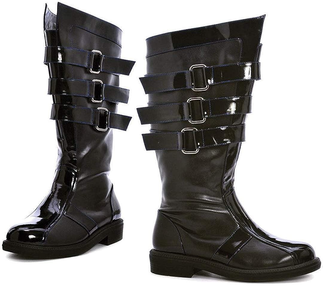 Mens Retro Shoes | Vintage Shoes & Boots Ellie Shoes Darth 3 Buckle Mens Boot $90.00 AT vintagedancer.com