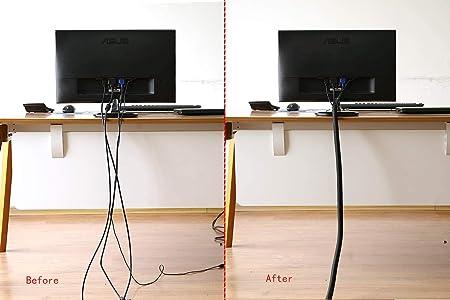 3 m Selbstschlie/ßend Kabelschlauch 1x3,1m Klett Kabelbinder fur TV PC Heimkino Kabelmanagement Kabelkanal Frei Zuschneidbar /& Wiederverwendbar