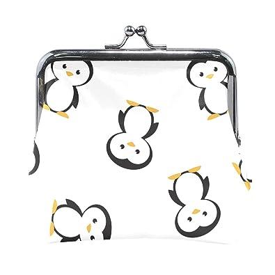 Amazon.com: Bonito monedero de piel de pingüino con cierre ...