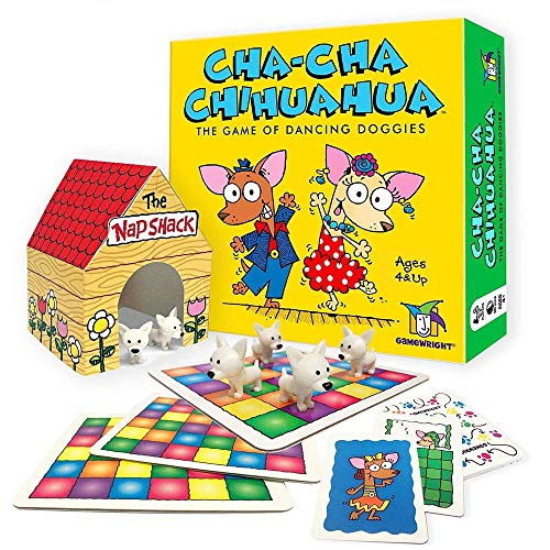 Gamewright Cha-Cha Chihuahua The Game of Dancing Doggies (Game Chaos Board)