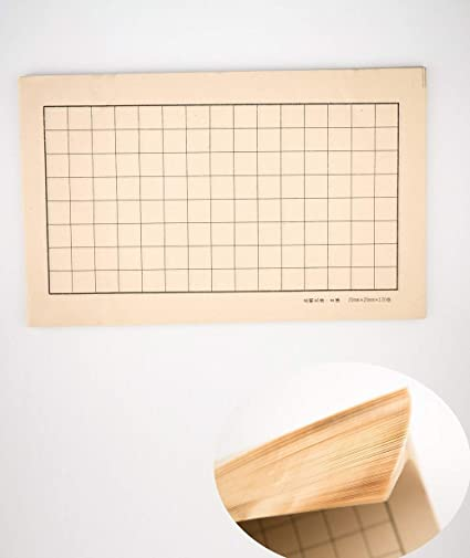 Grid writing paper for font size 2x2cm size 34.5x21.5 cm// 13.6x8.46 inch Xiao Kai 100 Sheets Qiming Wenfang Chinese Calligraphy paper antique style machine made bamboo paper for Chinese brush pen