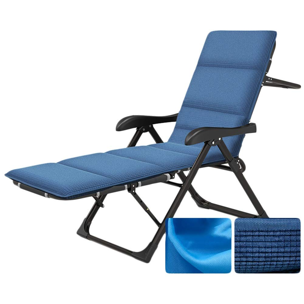 B 184x54x42cm CAIJUN Deck Chair Foldable Multipurpose Balcony Chair Leisure Breathable Comfortable Can Be Used Flat, 5 Styles (color   A, Size   184x54x42cm)