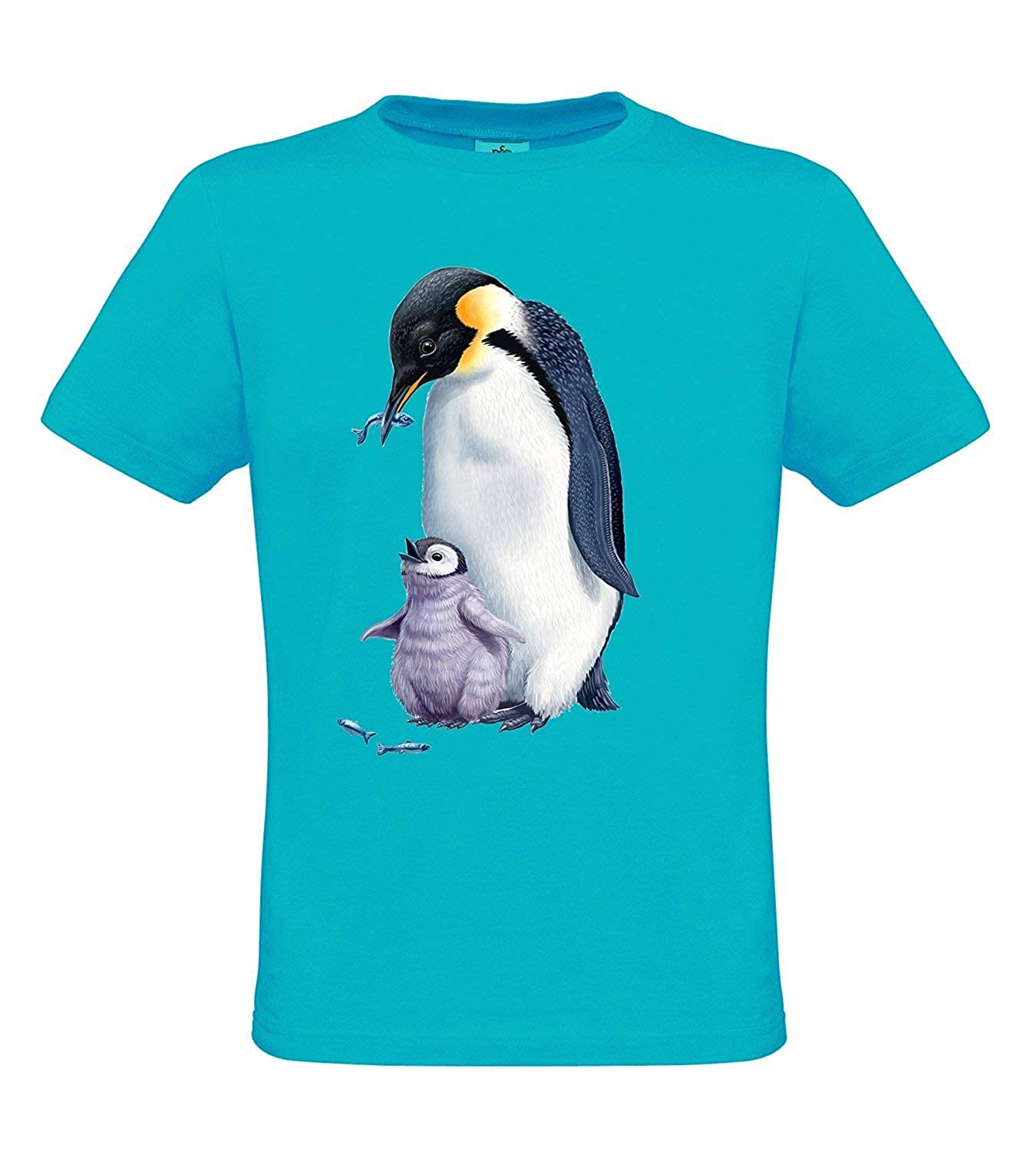 Arctic Wildlife - Men`s T-Shirt Penguin Regular fit: Amazon.es ...