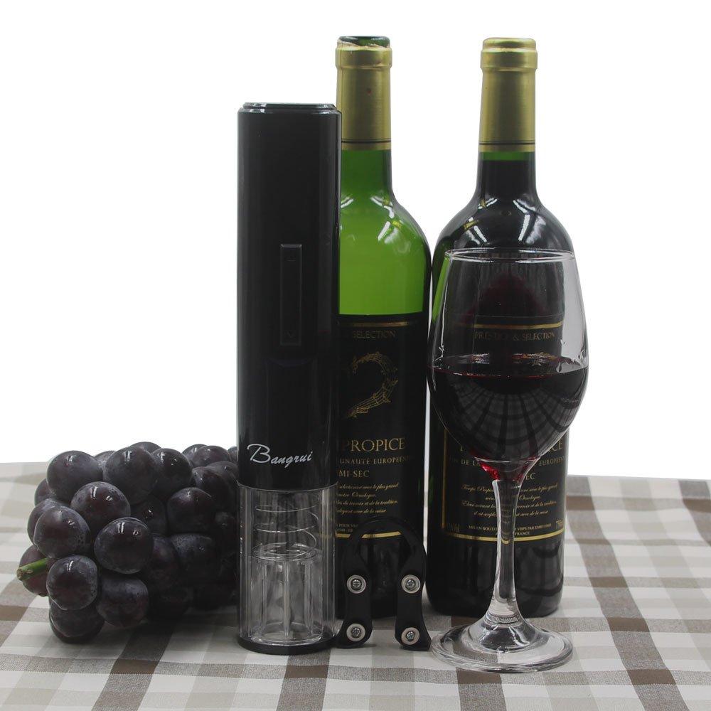 Korkenheber Elektrisch Weinflaschen/öffner ideales Geschenk f/ür Weinliebhaber Senioren und Frauen Schwarz Elektrische Flaschen/öffner Korkenzieher mit Kapselschneider