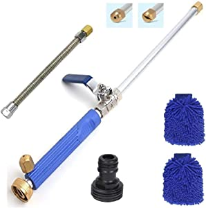 Hydro Jet Power Washer Wand–Magic High Pressure Wand Extendable Power Washer Wand High Pressure Water Hose Nozzle, Flexible Garden Hose Sprayer