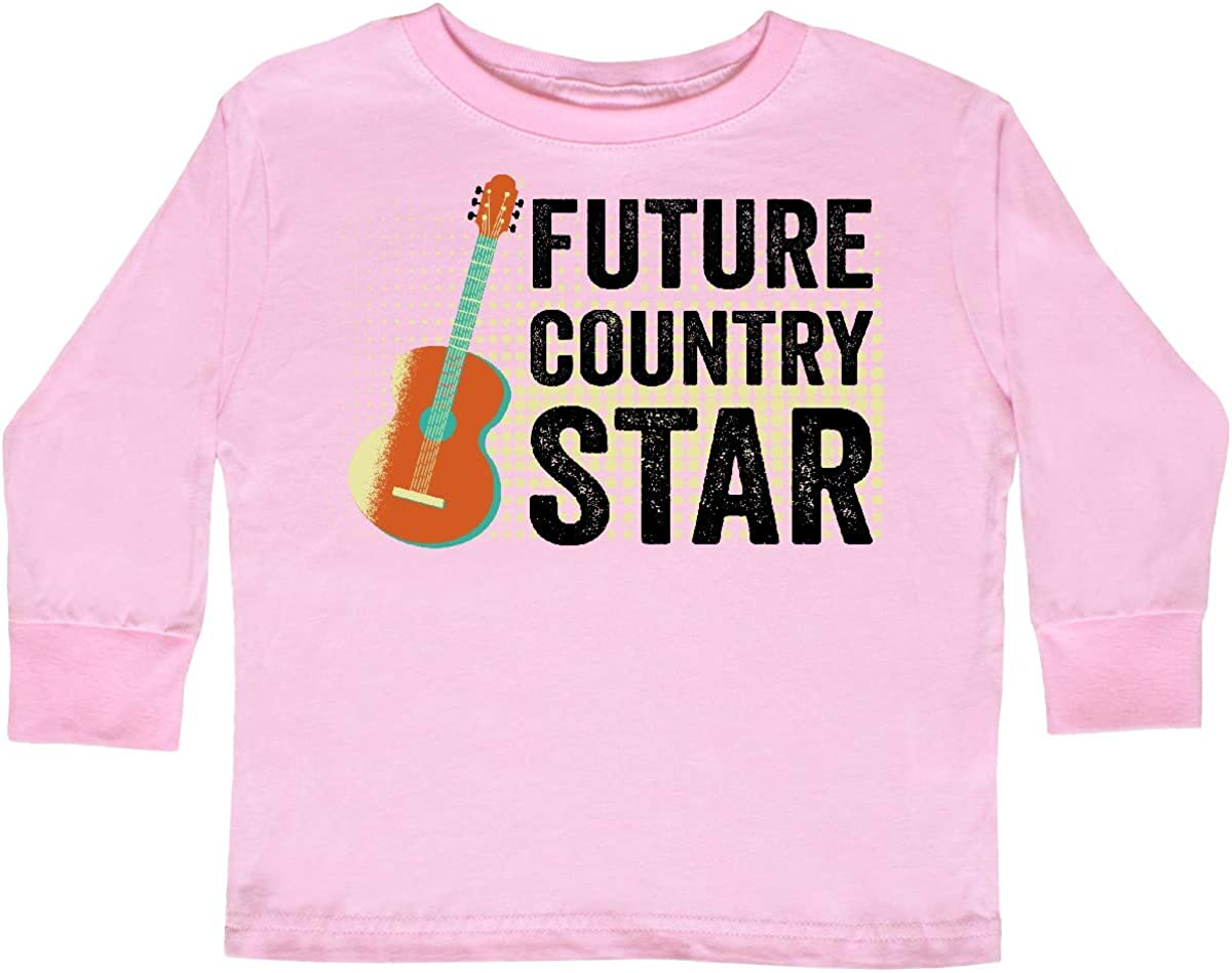 inktastic Guitar Music Future Country Star Toddler Long Sleeve T-Shirt