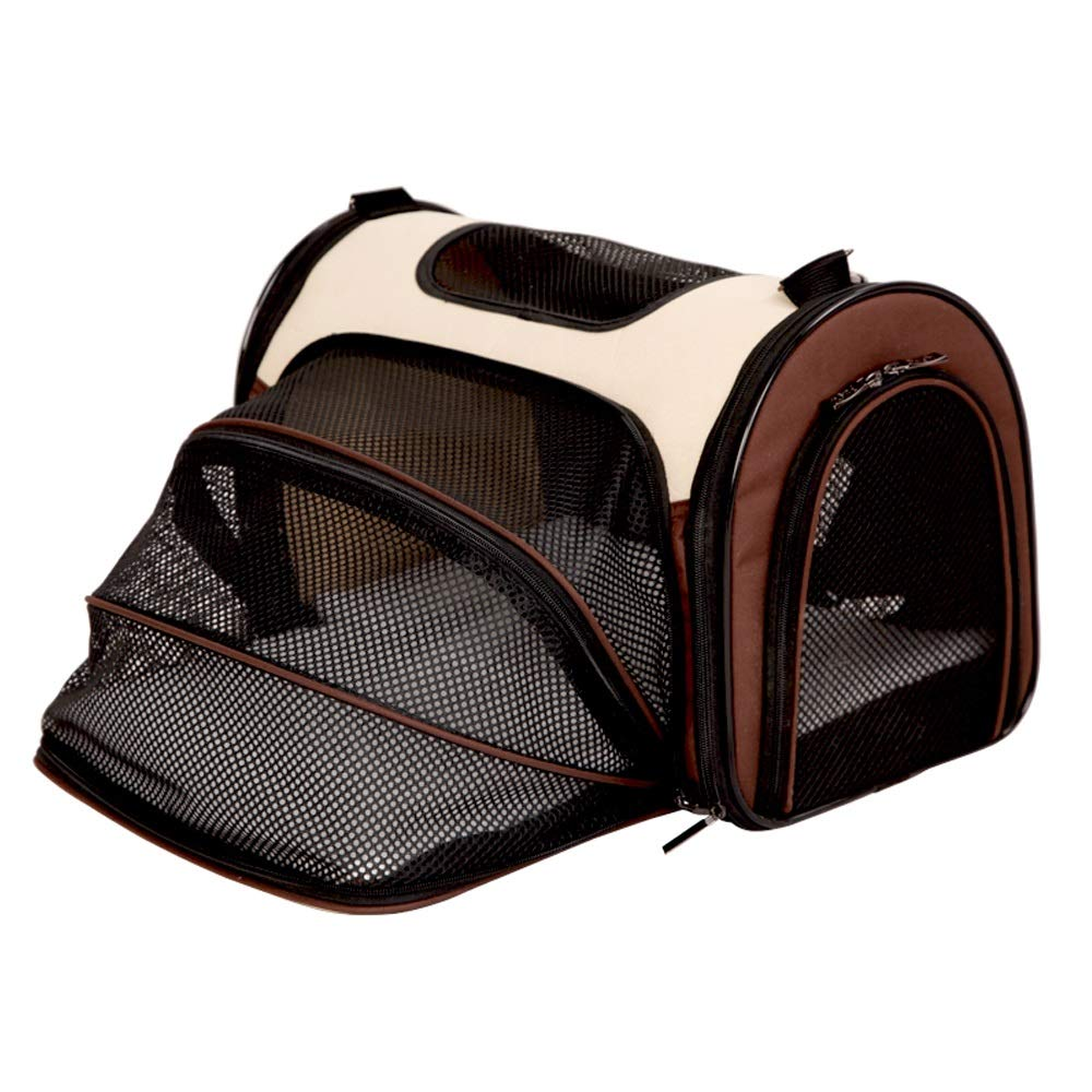 Brown M Brown M CL Pet Bag Collapsible Pet Outing Bag Removable and Washable Light Out Carrying Case Three colors Available in Two Sizes Pet Bag (color   Brown, Size   M)