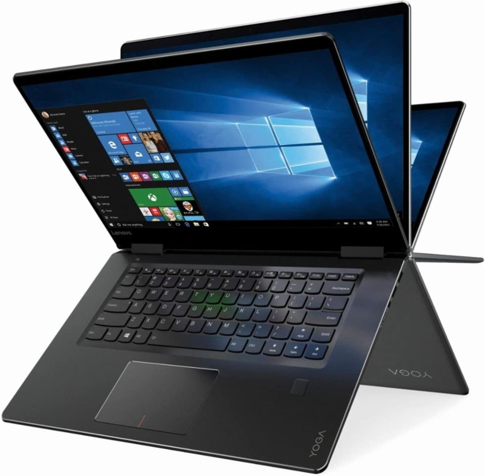 "2019 Lenovo Newest Yoga 710 2-in-1 15.6"" FHD Touchscreen Flagship Laptop, Intel Core i5-7200U, 8GB RAM, 256GB SSD, Bluetooth, Fingerprint Reader, HDMI, Stereo Speakers, Windows 10 Home"