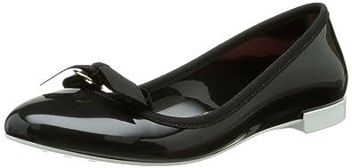 Lemon Jelly Bow, Damen Slingback Ballerinas, Schwarz - Schwarz - Noir (01 Black/White) - Größe: 39