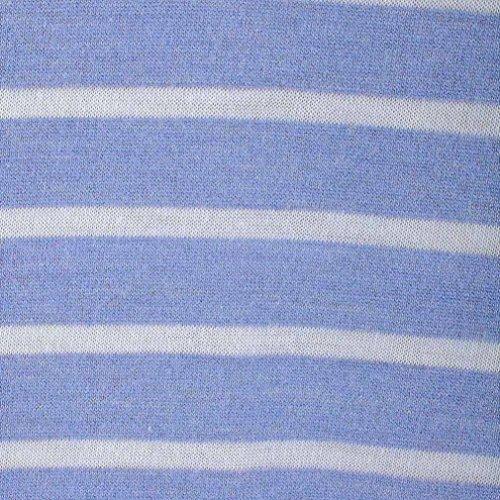 Mangas Rayas Diario Casual Elegantes Vestidos Moda Azul Mujer Horizontales Faldas Verano Suelto 2018 Playa Sin Wxw80Wv