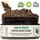 DELUGE - Organic Coffee Body Scrub, Tightens, Tones, Reduces Cellulite 100% Natural 8 OZ