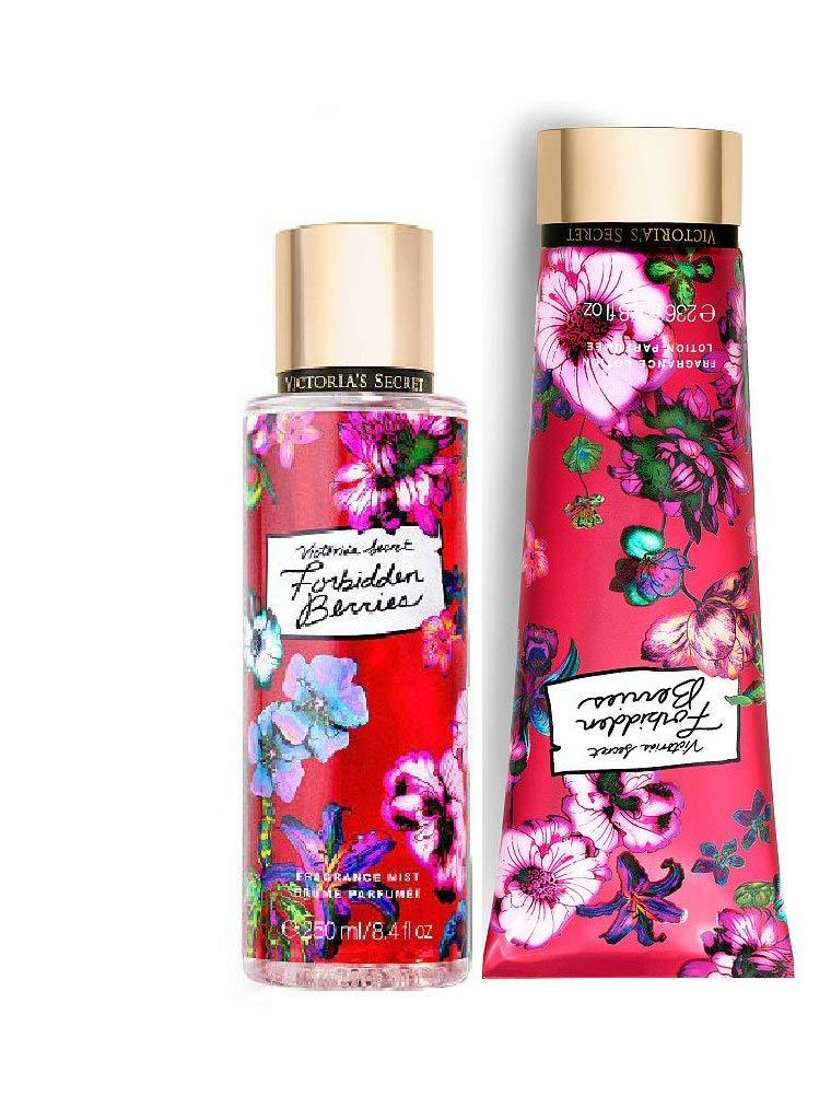 Victorias Secret Forbidden Berries Fragrance Body Lotion and Mist Set