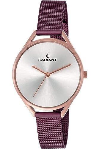 Reloj Radiant para Mujer con Correa Morada y Pantalla en Blanco RA432209: Amazon.es: Relojes