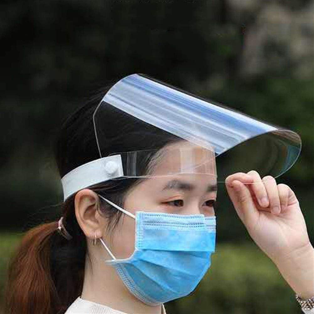 CHENXJ Schutzhaube 2 St/ück Anti-Fog Gesichtsschutz durchsichtiger Kunststoff Visier Augenschutz-Gesichtsmaske for Outdoor Office K/üche
