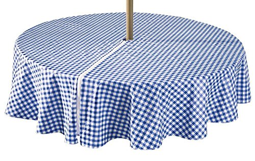 (LAMINET Zippered Deluxe Drop Patio Tablecloth - 70