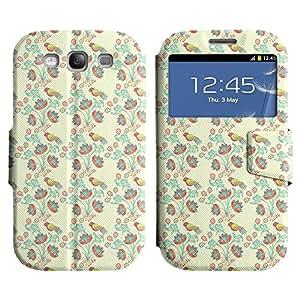 LEOCASE Flores Y Aves Funda Carcasa Cuero Tapa Case Para Samsung Galaxy S3 I9300 No.1000349