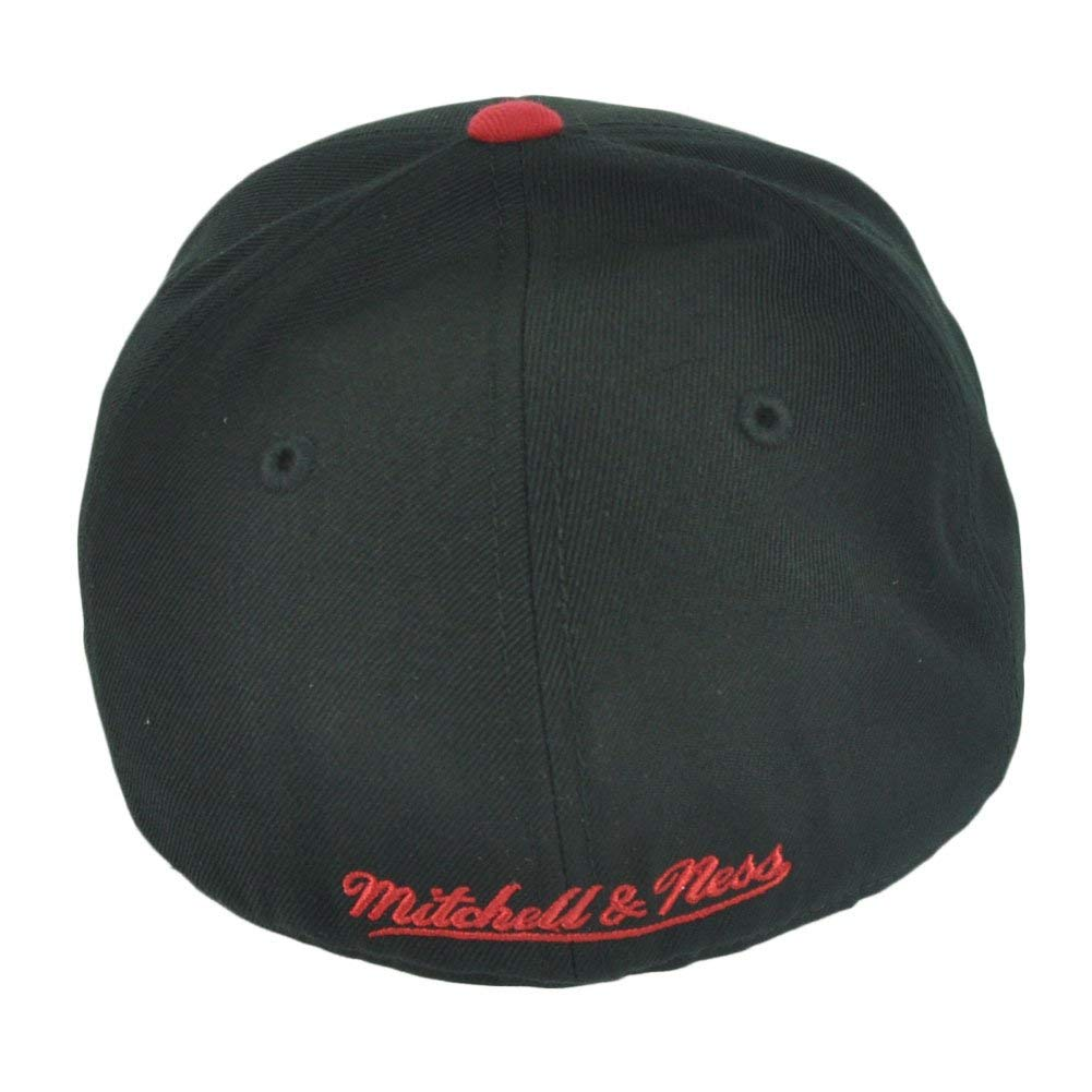 Miami Heat Mitchell & Ness Arch Vintage Logo Tri-Pop Fitted Hat (7 3/4) by Mitchell & Ness (Image #2)