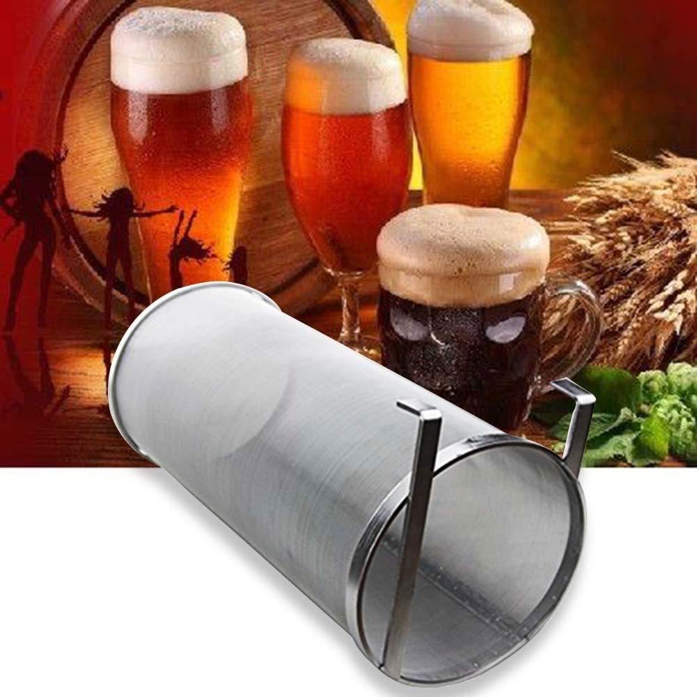 "NOFDA 6""x14"" Inch Hopper Filter, tainless Steel 300 Micron Mesh Homebrew Hops Beer & Tea Kettle Brew Filter"