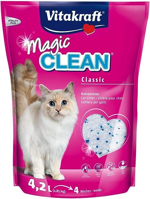 Vitakraft - Arena de silice para Gatos Magic Clean - 1.85 kg ...