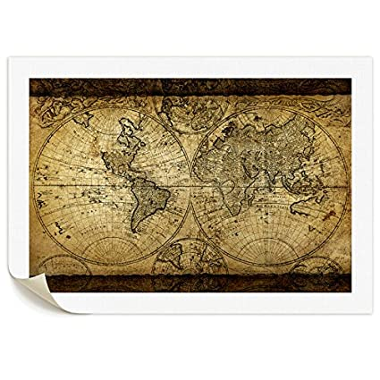 Amazon Com Donglin Art Modern Art The Retro World Map Oil Printing