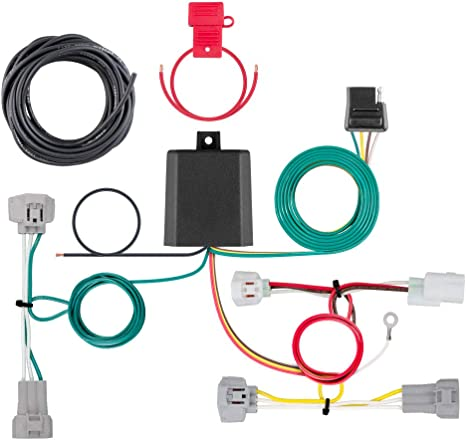 CURT 56349 Vehicle-Side Custom 4-Pin Trailer Wiring Harness for Select on trailer mounting brackets, trailer hitch harness, trailer generator, trailer brakes, trailer fuses, trailer plugs,