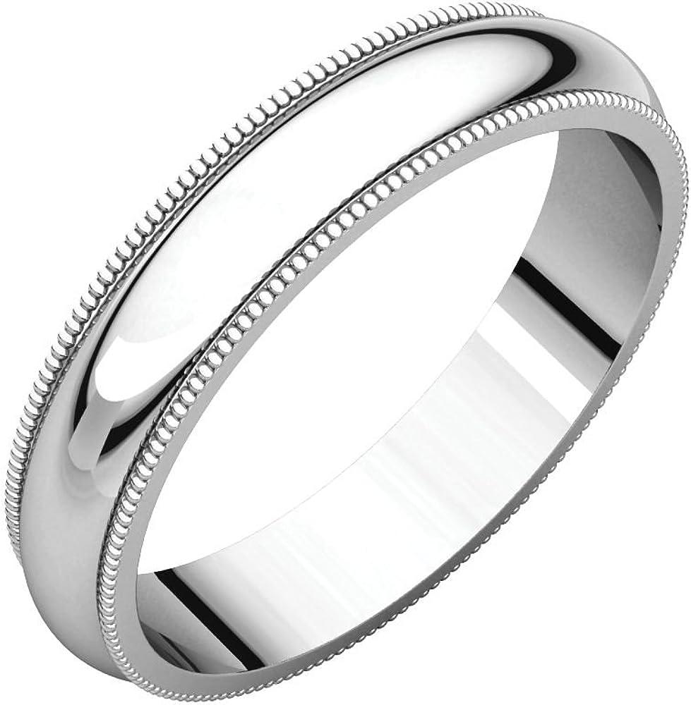 Bonyak Jewelry 10k Yellow Gold 5 mm Half Round Lightweight Band Size 13.5