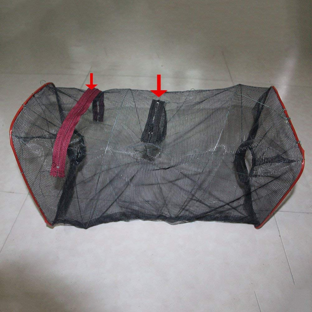 Fischen Falle Schrimps Gegossen Netz Elritze Netzgewebe K/äfig Faltbar Zipper Krabbe Elritze Flusskrebs Falle Tasche Zuf/ällig