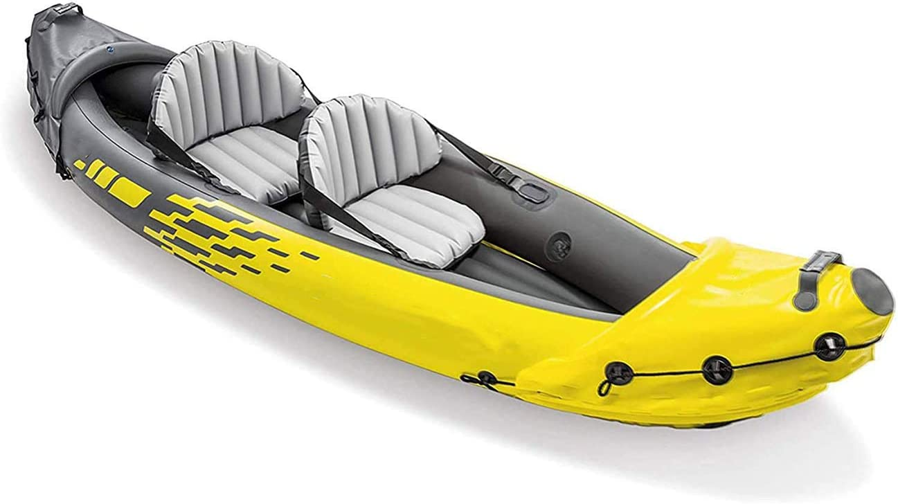 GFHN Kayak Inflatable Canoe,2-Person Inflatable Kayak Set with Aluminum Oars and High Output Air Pump,312/×91/×51CM