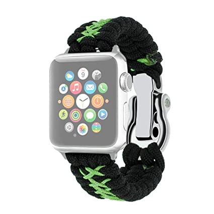 Amazon.com: Smart Watch Band for Apple Watch Band Replacement Nylon Woven Band for iWatch 4/3/2 38mm/40mm de reloj inteligente (Green): Car Electronics