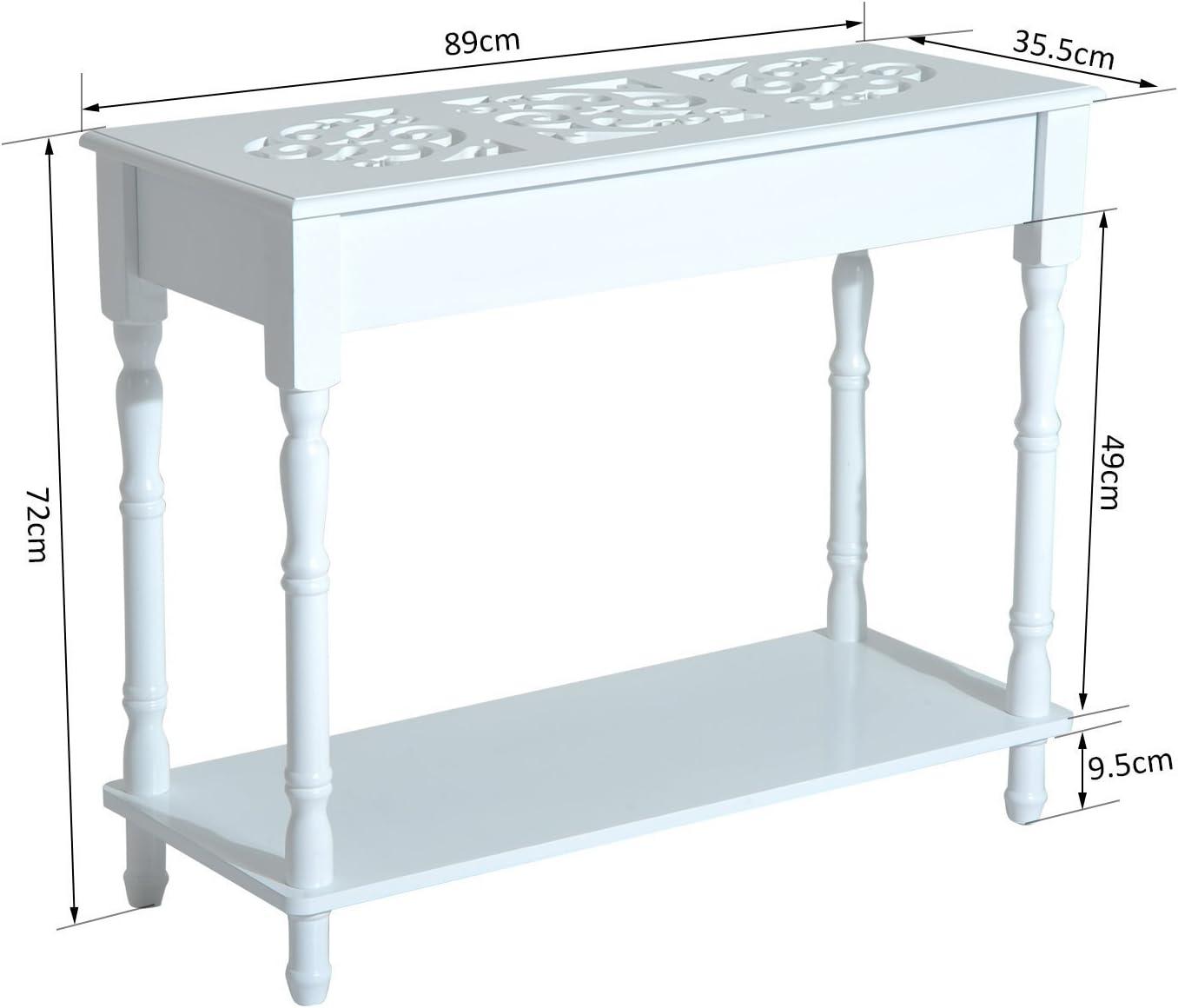 HOMCOM Mueble Mesa Recibidor Tipo Consola de Entrada con ...