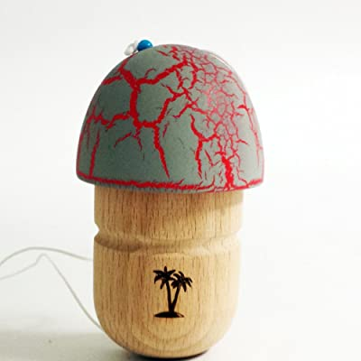 Bahama Kendama Mushroom Pill Kendama- Reverse Spike - Grey over Red: Everything Else
