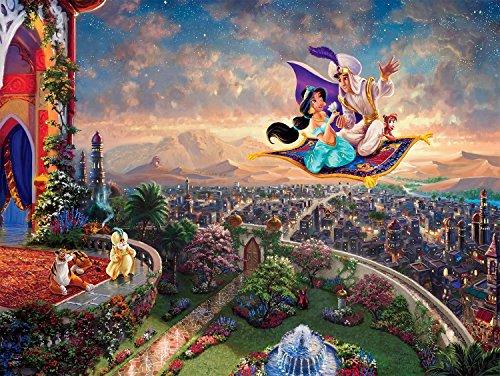 Ceaco Thomas Kinkade Disney Princess Aladdin Jigsaw Puzzle (300 ()