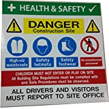 Site Safety Construction Multisign 500 x 500mm x 5mm by Catchy Signs Graphic Works