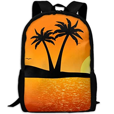 SZYYMM Custom Made Beautiful Tropical Landscape Oxford Cloth Fashion Backpack,Travel/Outdoor Sports/Camping/School, Adjustable Shoulder Strap Storage Backpack For Women And Men outlet