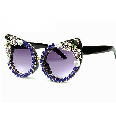 9080c07134 Women Luxury Brand sunglasses Rhinestone Cat Eyes Sun glasses Vintage  Shades for women