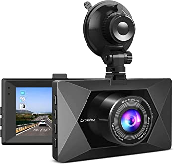 Crosstour 1080P Car Dash Camera with 3 inch LCD Screen