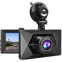 """Dash Cam, Crosstour 1080P Dash Camera for Cars 3"""" LCD Screen Car Camera 170° Wide Angle DVR Recorder with WDR, G-Sensor…"""