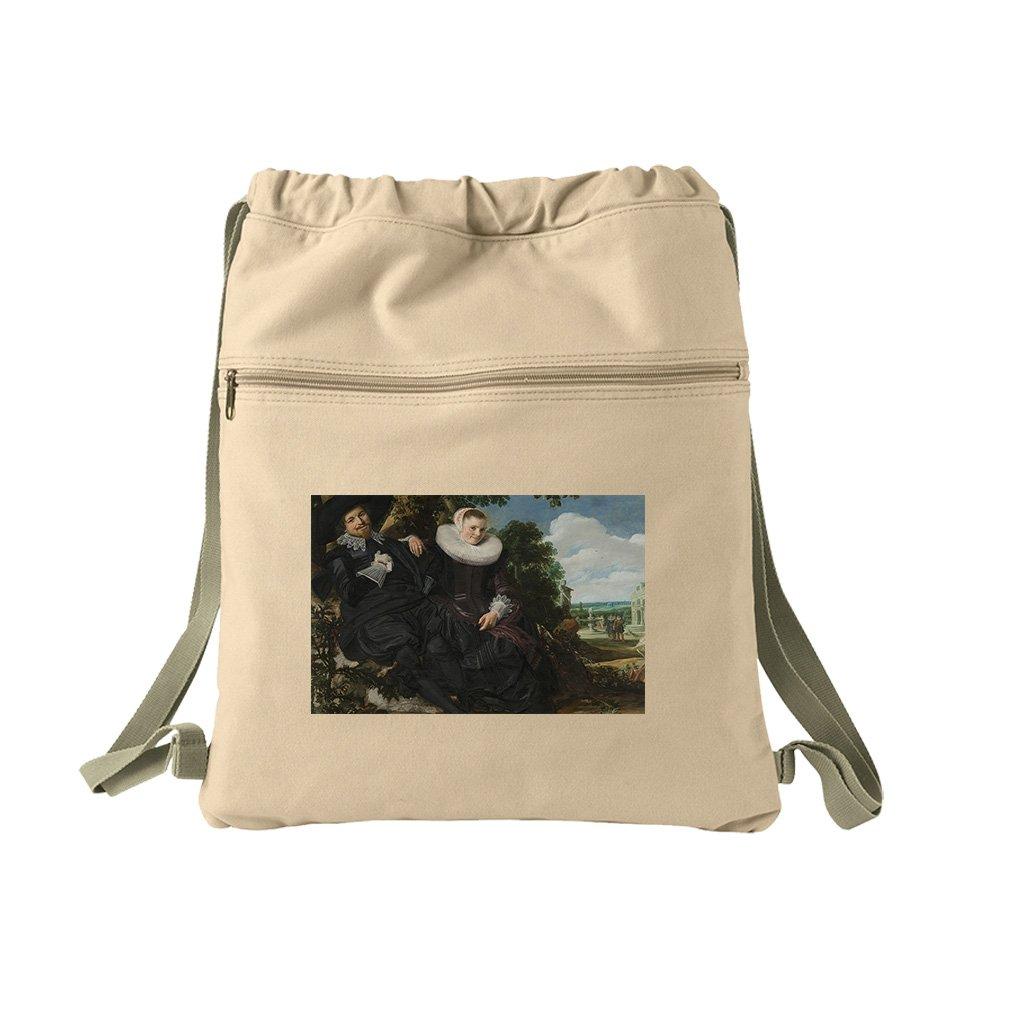 Wedding Portrait (Frans Hals) Canvas Dyed Sack Backpack Bag